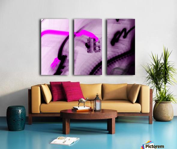 Stop Negative Split Canvas print