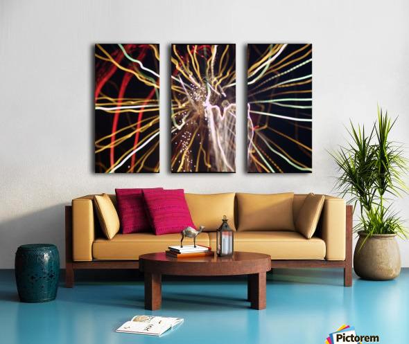 Streamers Split Canvas print