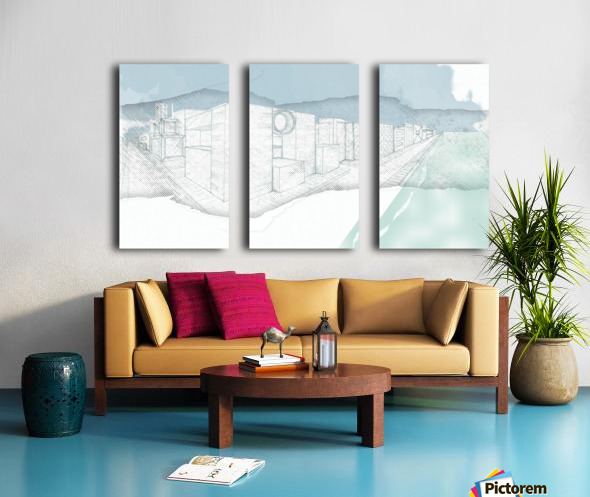 Futuristic City vol 3 Split Canvas print