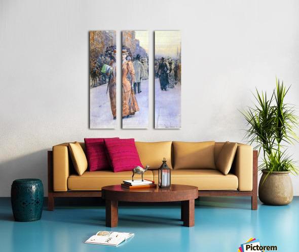New York street scene by Hassam Split Canvas print