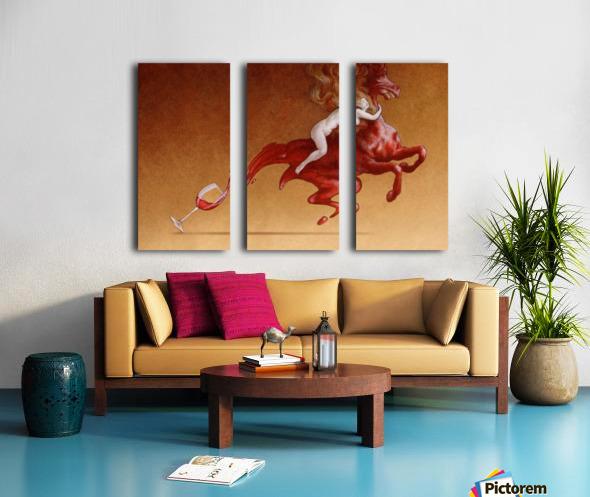 red wine Split Canvas print