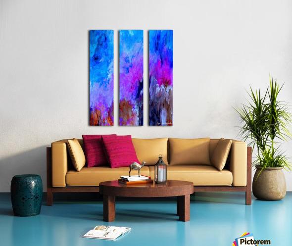 Eruption Quirk Split Canvas print