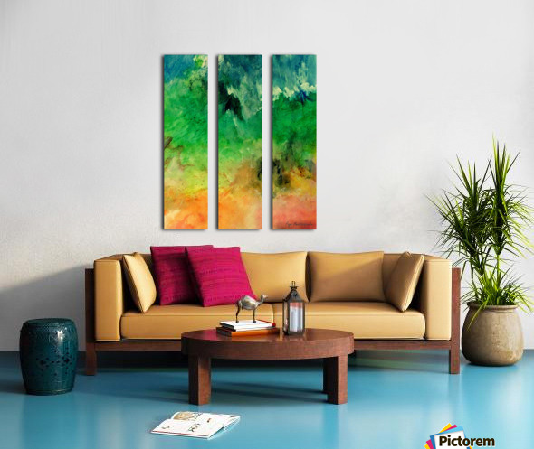 Forest Mountains Split Canvas print