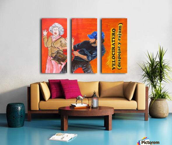 velociratero  Split Canvas print
