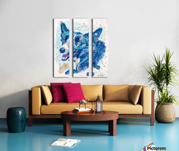Border Collie Dog - Portrait of Habbey Split Canvas print