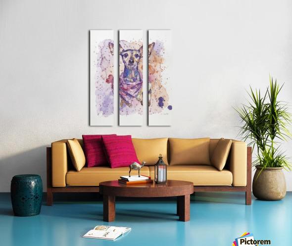 Chihuahua - Portrait of Gigi Split Canvas print