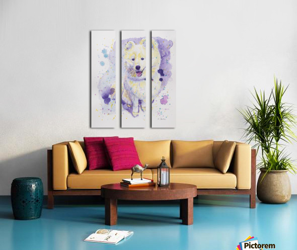 Samoyed Dog - Portrait of Juno Split Canvas print