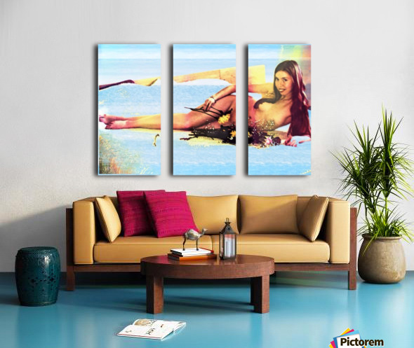 a mermaid in her home Split Canvas print