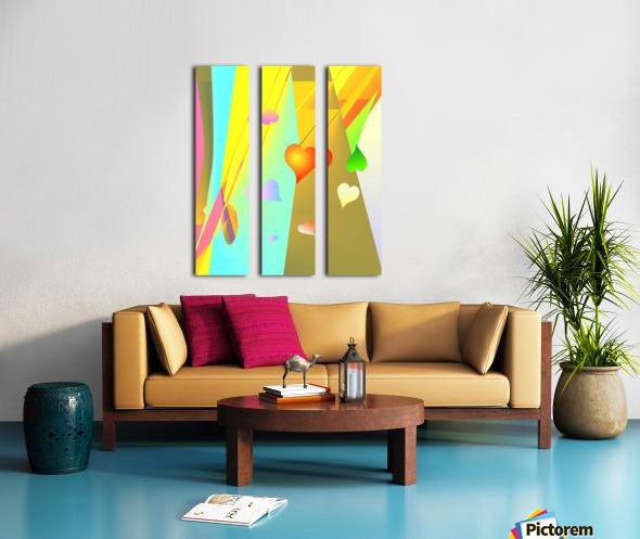 love bond 82918 H Split Canvas print
