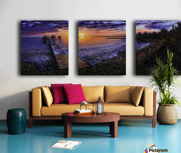 Sylvan Lake Split Canvas print