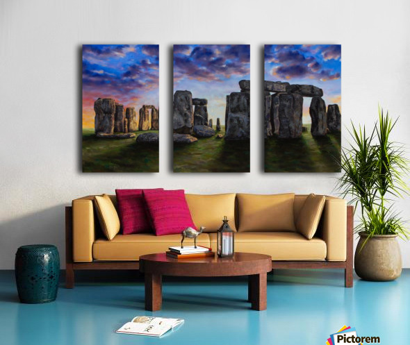 stonehenge Split Canvas print