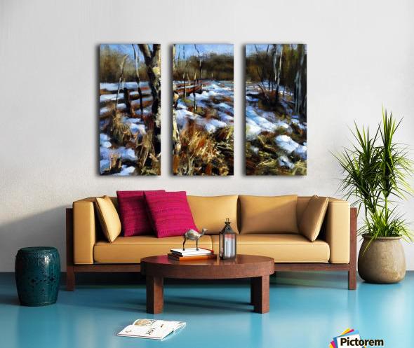 Birch Tree Split Canvas print
