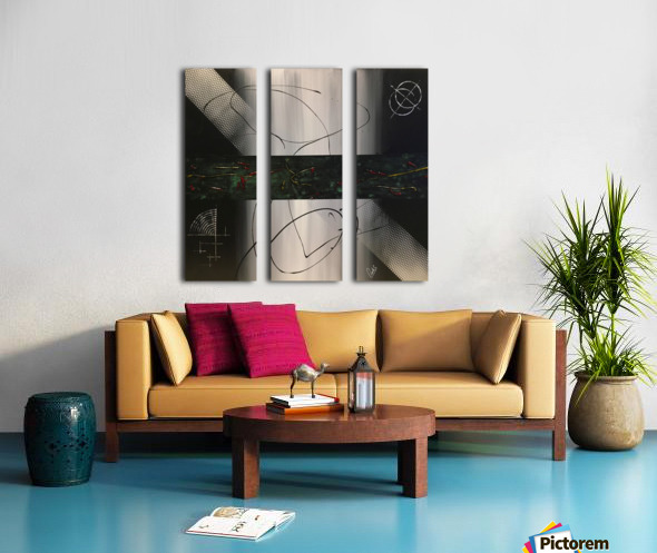 MIDNIGHT Split Canvas print