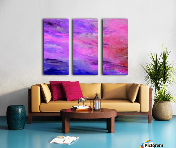 Pastel Sunset Split Canvas print