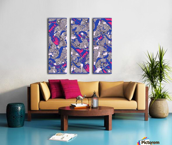 butterfly collage med Split Canvas print
