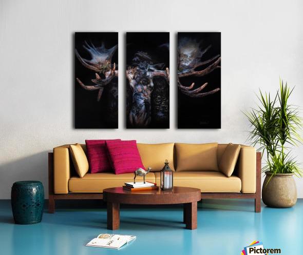 Moose Apparition  Split Canvas print