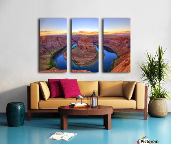 Horseshoe Bend Split Canvas print