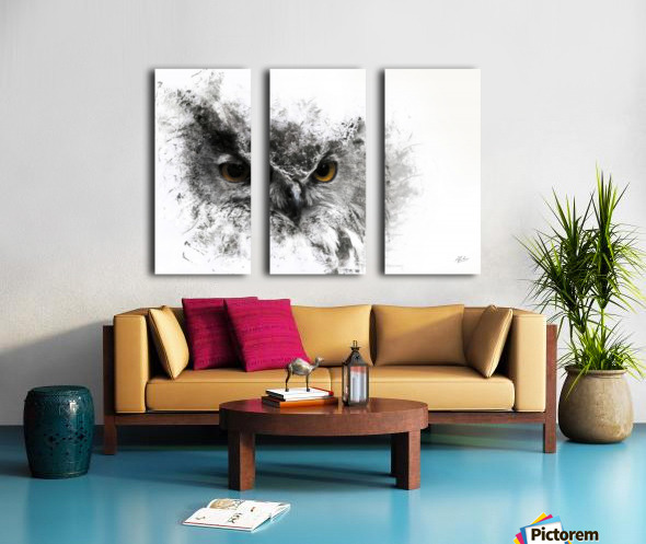 European Eagle Owl 01 Split Canvas print