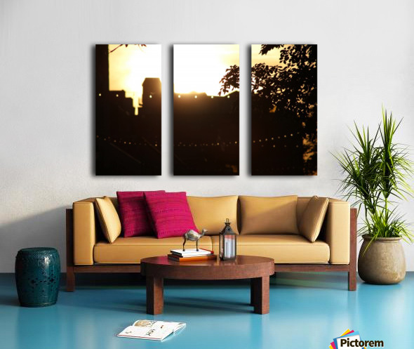 Montreal Sunset Split Canvas print