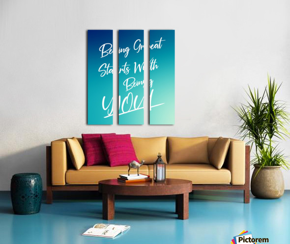 You are great  Split Canvas print