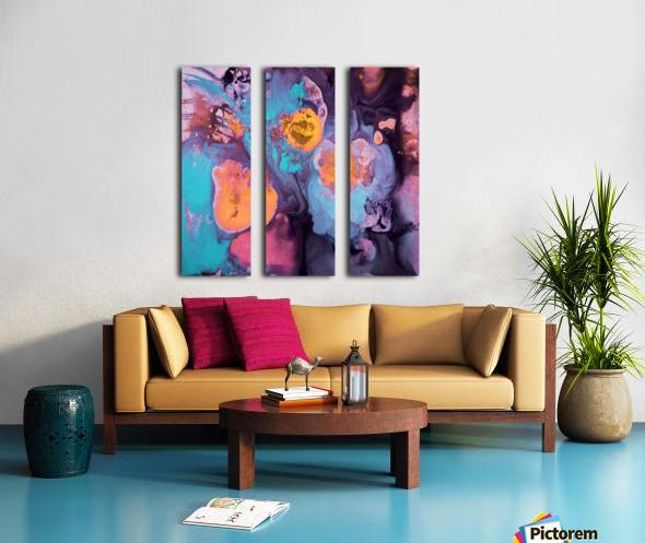 Liquid series 19 Split Canvas print