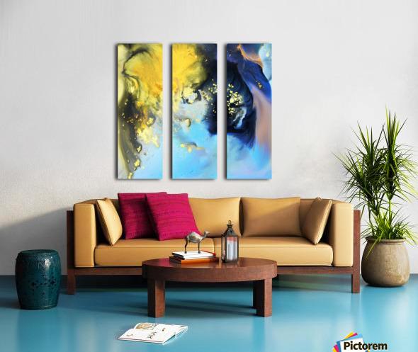 Liquid series 14 Split Canvas print