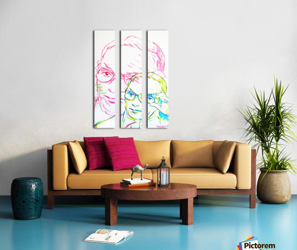 Glasses Split Canvas print