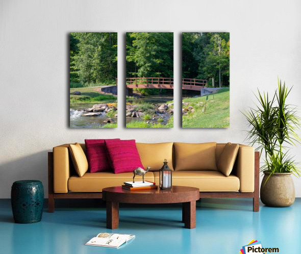 Holley Erie Canal Falls 5 Split Canvas print