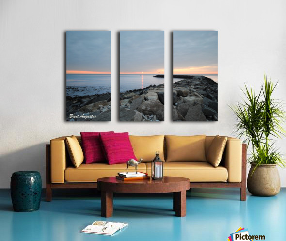 New England Sunrise Split Canvas print