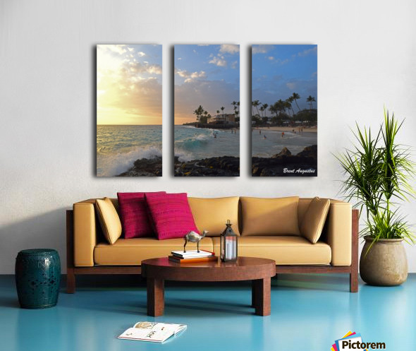 Sunset Beach Split Canvas print