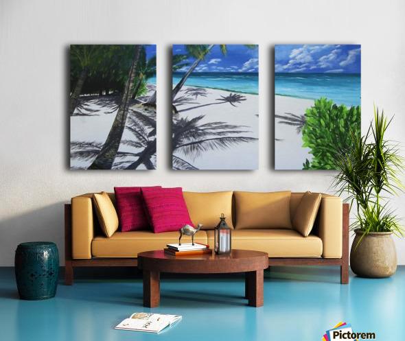 Shadow Beach by Robert Clark Split Canvas print