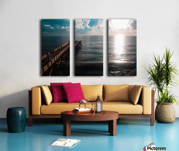Blue majestic Split Canvas print