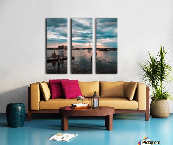 Blue Summer Split Canvas print