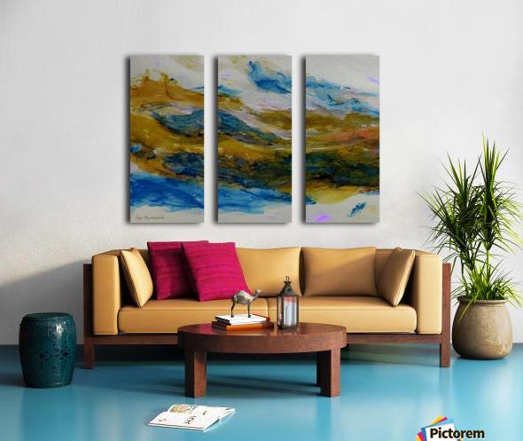 Amber River Split Canvas print