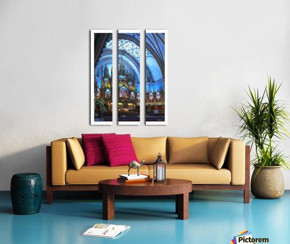 Basilique Notre-Dame Montréal Split Canvas print