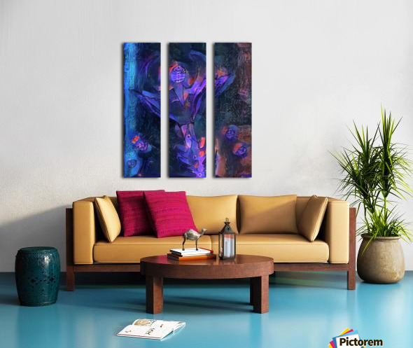 Alien Flower Split Canvas print