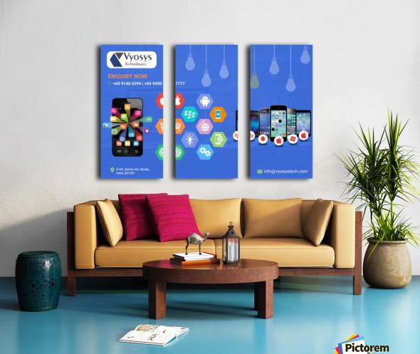 Android App Development Company In Noida Split Canvas print