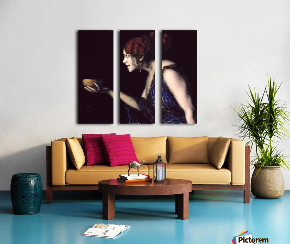 Tilla Durieux as Circe by Franz von Stuck Split Canvas print