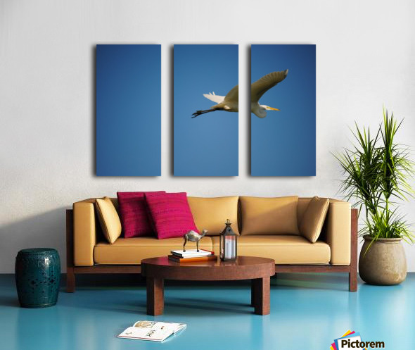 Egret Flying Split Canvas print