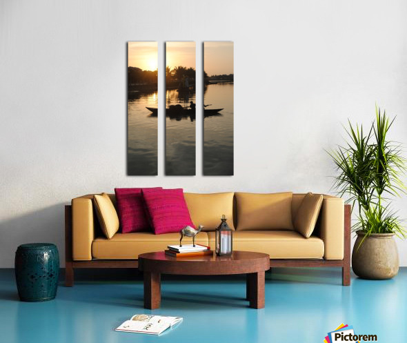 Asian Fishin Split Canvas print