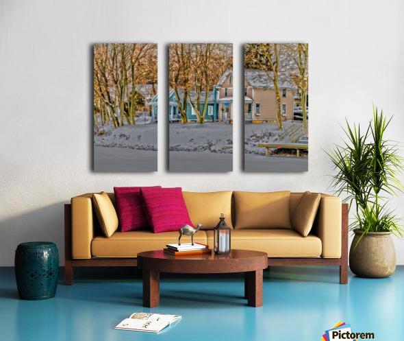 Canalside Living Split Canvas print