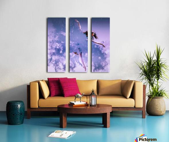 Smoke & Mirrors Split Canvas print