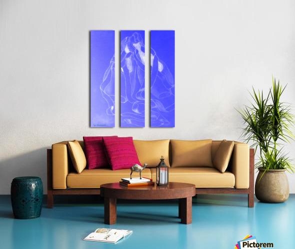 Celestial Pointe Shoes Split Canvas print