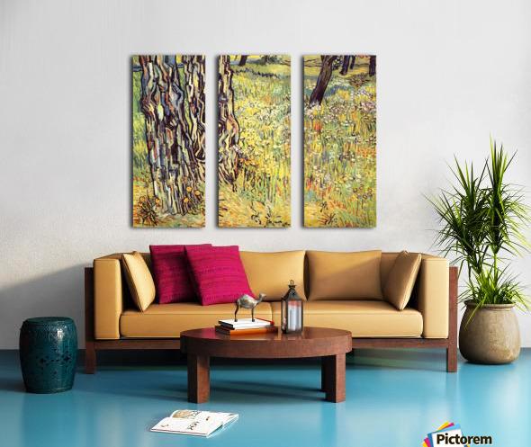 Tree trunks by Van Gogh Split Canvas print