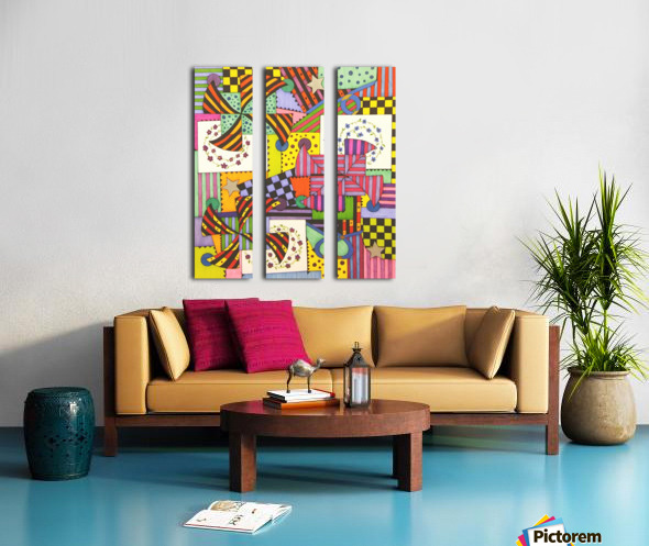 Patchwork Split Canvas print