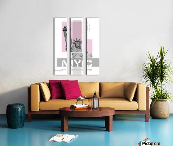 Poster Art NYC Statue of Liberty | light pink Split Canvas print