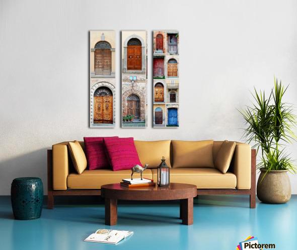 Italian Wooden Doors Collage Split Canvas print