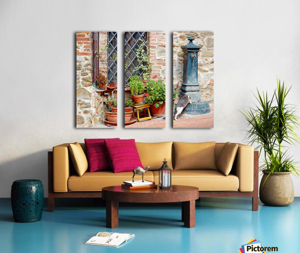 Pawse for a Drink in Paciano Split Canvas print