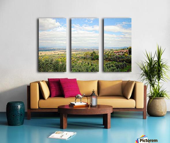 Umbrian View Split Canvas print
