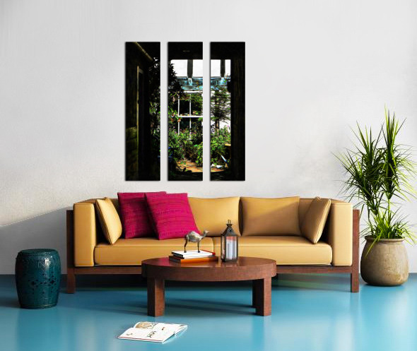 The Secret Courtyard Split Canvas print